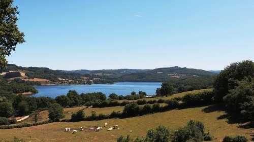 Lake Pannecière Blue Nièvre Lake Reservoir Morvan