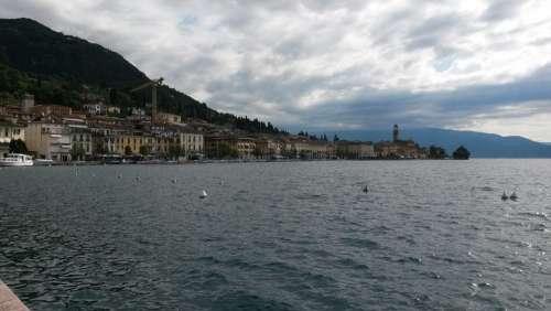 Lake Garda Italy Clouds Gray Sky Sky Holiday