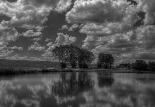 Lake Clouds Water Sky Nature Landscape Rest Mood