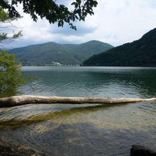 Lake Ticino Switzerland Caslano Lago Di Lugano