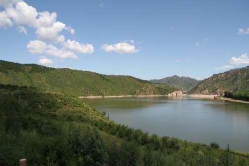 Lake Ulan Butong Blue Sky