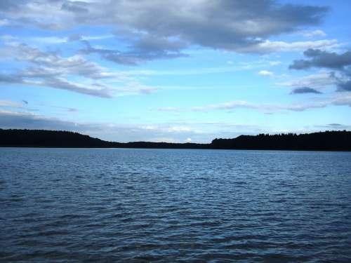 Lake Clouds Abendstimmung