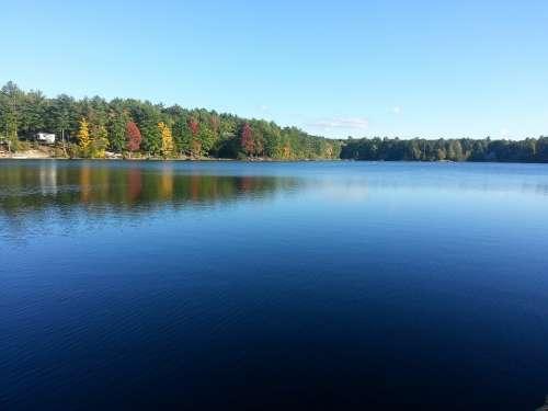 Lake Nature Reflection Summer Sky Blue Water