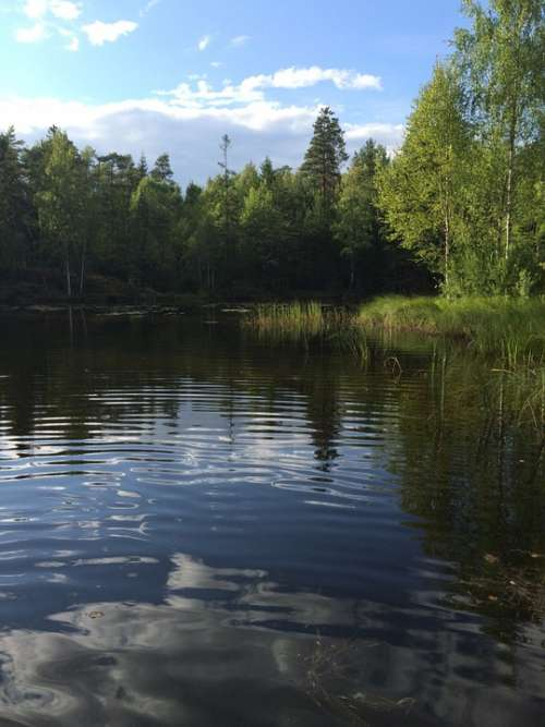 Lake The Nature Of The Norway