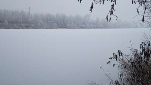 Lake Winter Landscape Ice Water Nature
