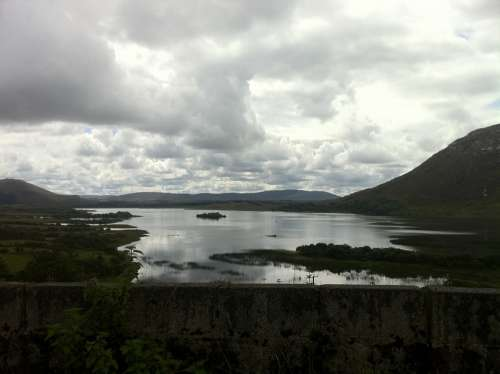 Lake Galway Irish Ireland Clouds Landscape Sky