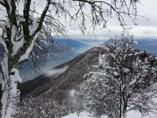 Lake Como Snow Alps Winter Government