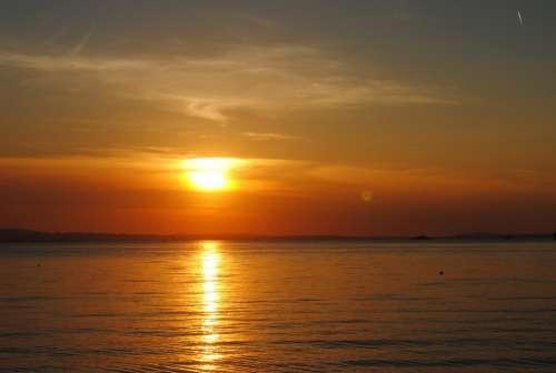 Lake Constance Sunset Lake Abendstimmung Water Sky