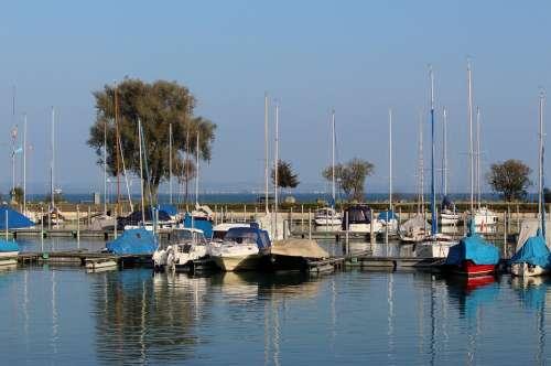 Lake Constance Ships Boat Harbour Port Sunny