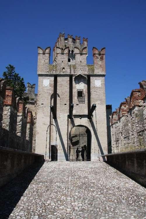 Lake Garda Castle Italy Old