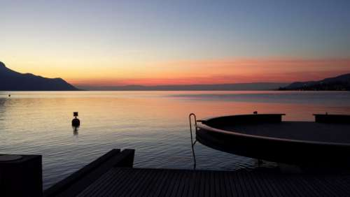 Lake Geneva Sunset Winters