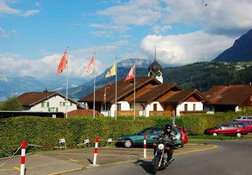 Lake Lucerne Region Switzerland Motorcycle City