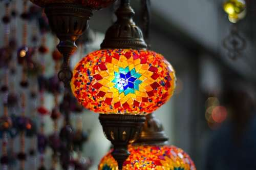 Lamp Light Glass Illumination Mosaic Turkish