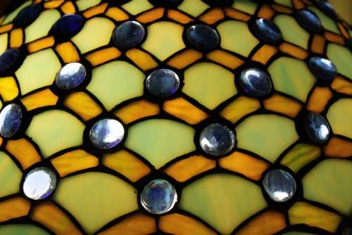 Lampshade Tiffany Colorful Glass