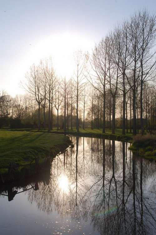 Landscape River Reflections