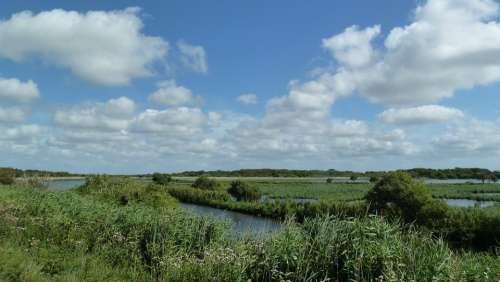 Landscape Nature Plant Sky Clouds Norderney Blue