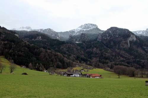 Landscape Bavaria View Mountains Kampenwand