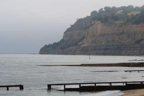 Landscape Sea Isle Of Wight Coast Romantic