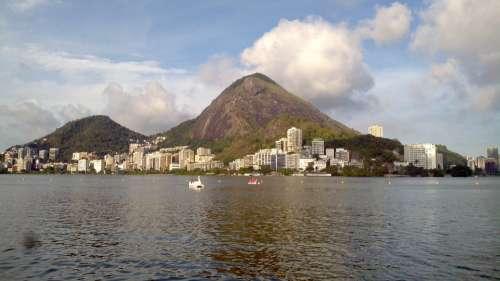 Landscape City Rio De Janeiro Sky Symmetry Brazil