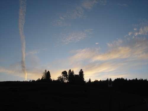 Landscape Clouds Sky Sunset Abendstimmung Rest