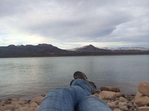 Landscape Relaxing Cloudy Mountain Lake