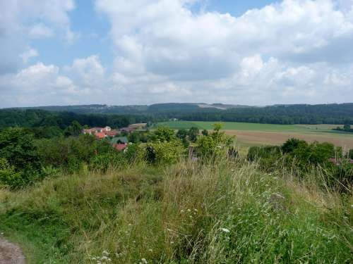 Landscape View Castle Castle Lichnice Clouds Sky