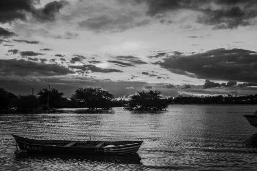 Landscape Sky Boat Nature Clouds Sea Sun
