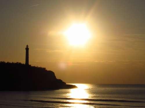 Landscape Lighthouse Biarritz