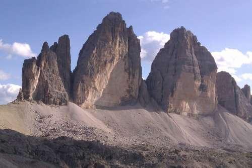 Landscape Dolomites 3 Peaks Mountain