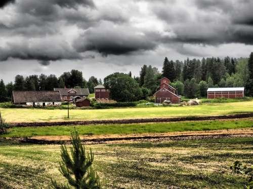 Landscape Countryside Milieu Field Thunder Rain