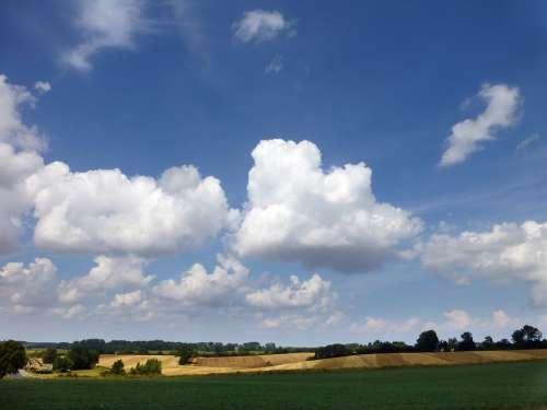 Landscape Mecklenburg Sky Clouds Nature Free