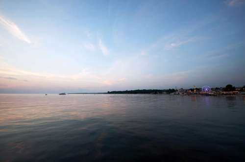 Landscape Porec August Water Sea Sunset Summer