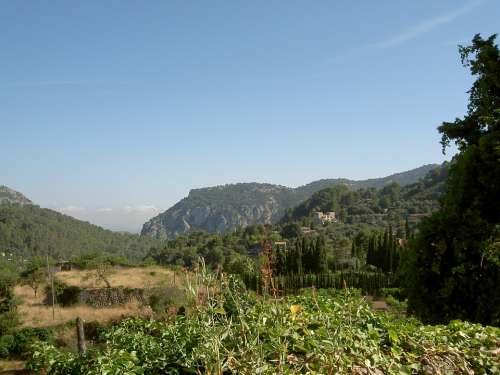 Landscape Majorca Scenery Mountains Rural Spain