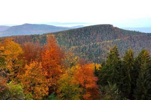 Landscape Mountains Autumn Fall Seasons Valley