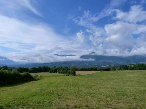 Landscapes Nature Mountain Summer Sky Clouds