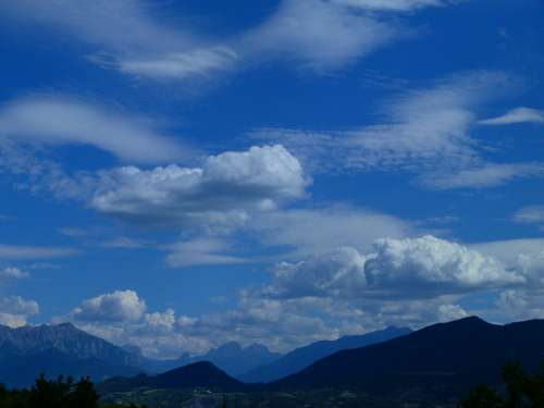 Landscapes Sky Clouds Mountain Blue Nature Alps