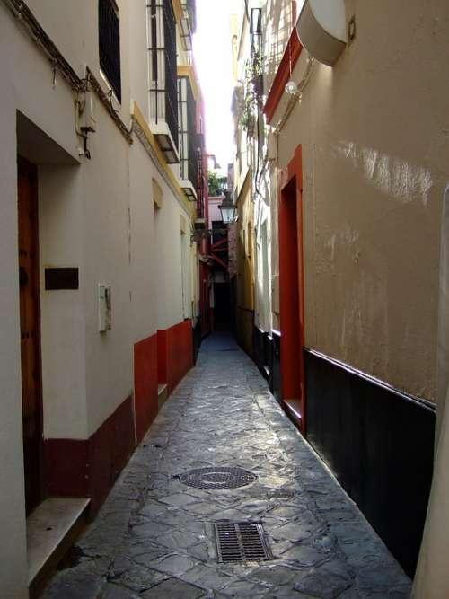 Lane Santa Cruz Seville Andalusia Spain District
