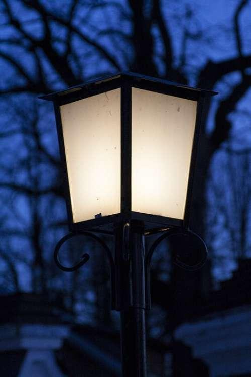 Lantern Evening Street City