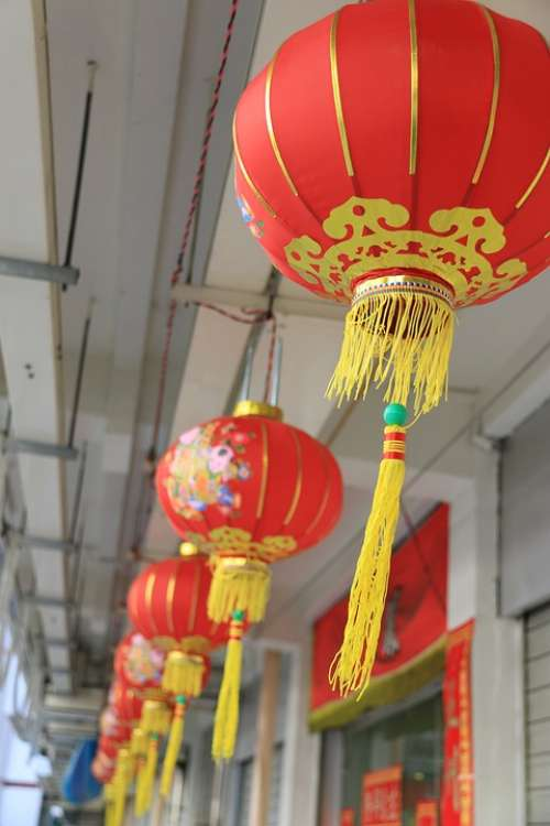 Lantern Chinese Red Decoration Traditional