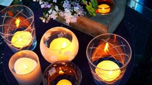Lanterns Candlelight Mood Lighting Shining Light