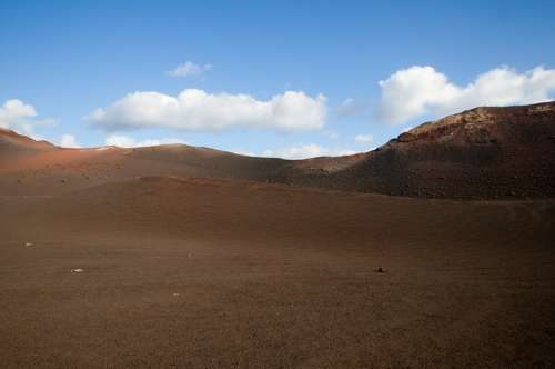 Lanzarote Canary Islands Spain Nature Volcanic Dry