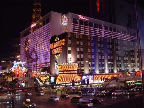 Las Vegas Night Street Vegas Nevada Strip Tourism