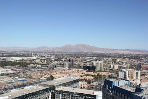 Las Vegas Landscape Sky City Desert