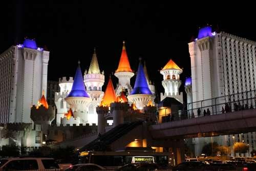 Las Vegas Castle Hotel Gaming Vegas City Colorful