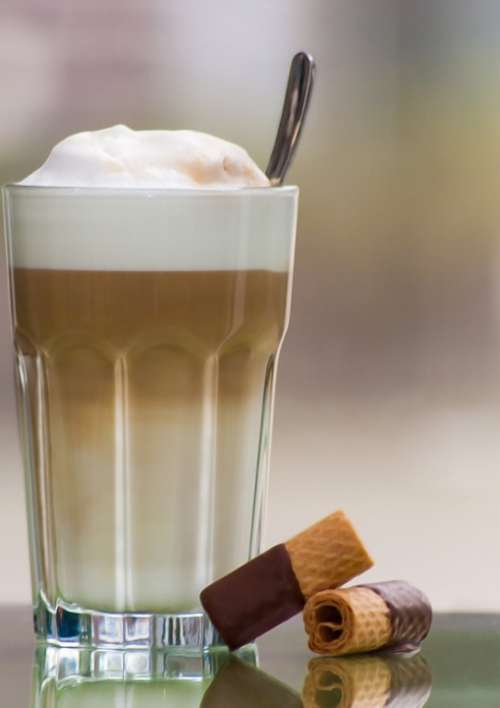 Latte Macchiato Drink Coffee