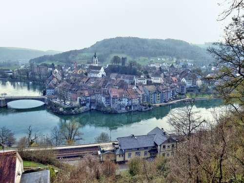 Laufenburg High Rhine Germany Switzerland Rhine