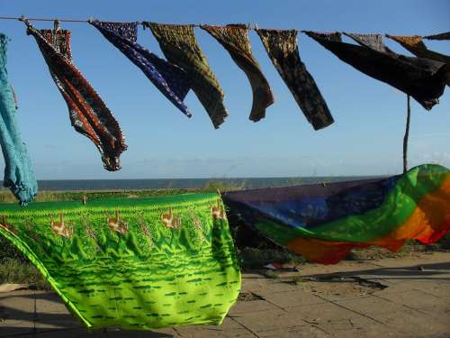 Laundry Cloth Windy Fabric Blowing Breeze Waving