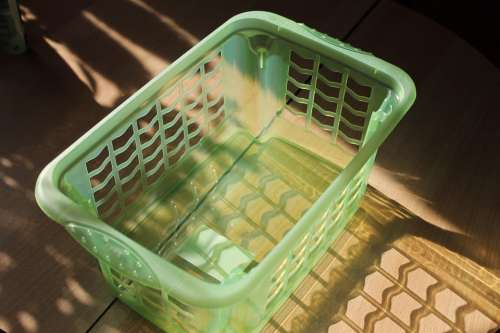 Laundry Basket Basket Plastic Green