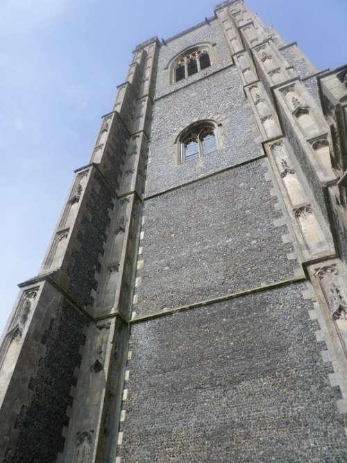 Lavenham Church Church Tower Tower Stone