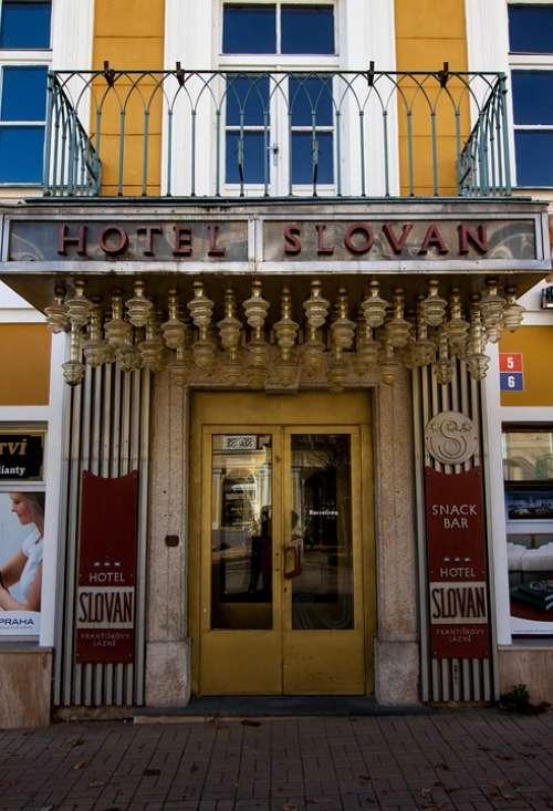 Lazne Czech Republic Hotel Slovan Architecture